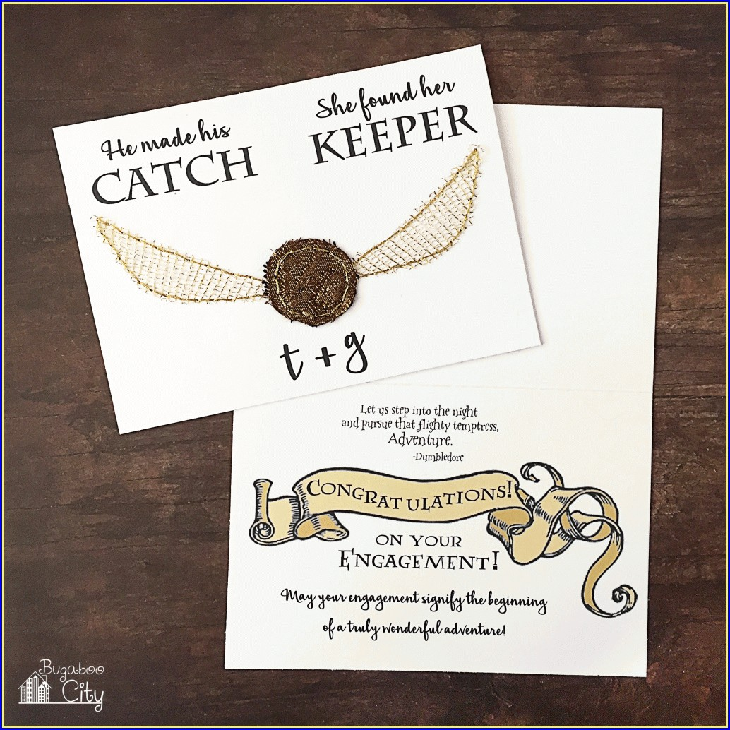 Printable Harry Potter Themed Wedding Invitations