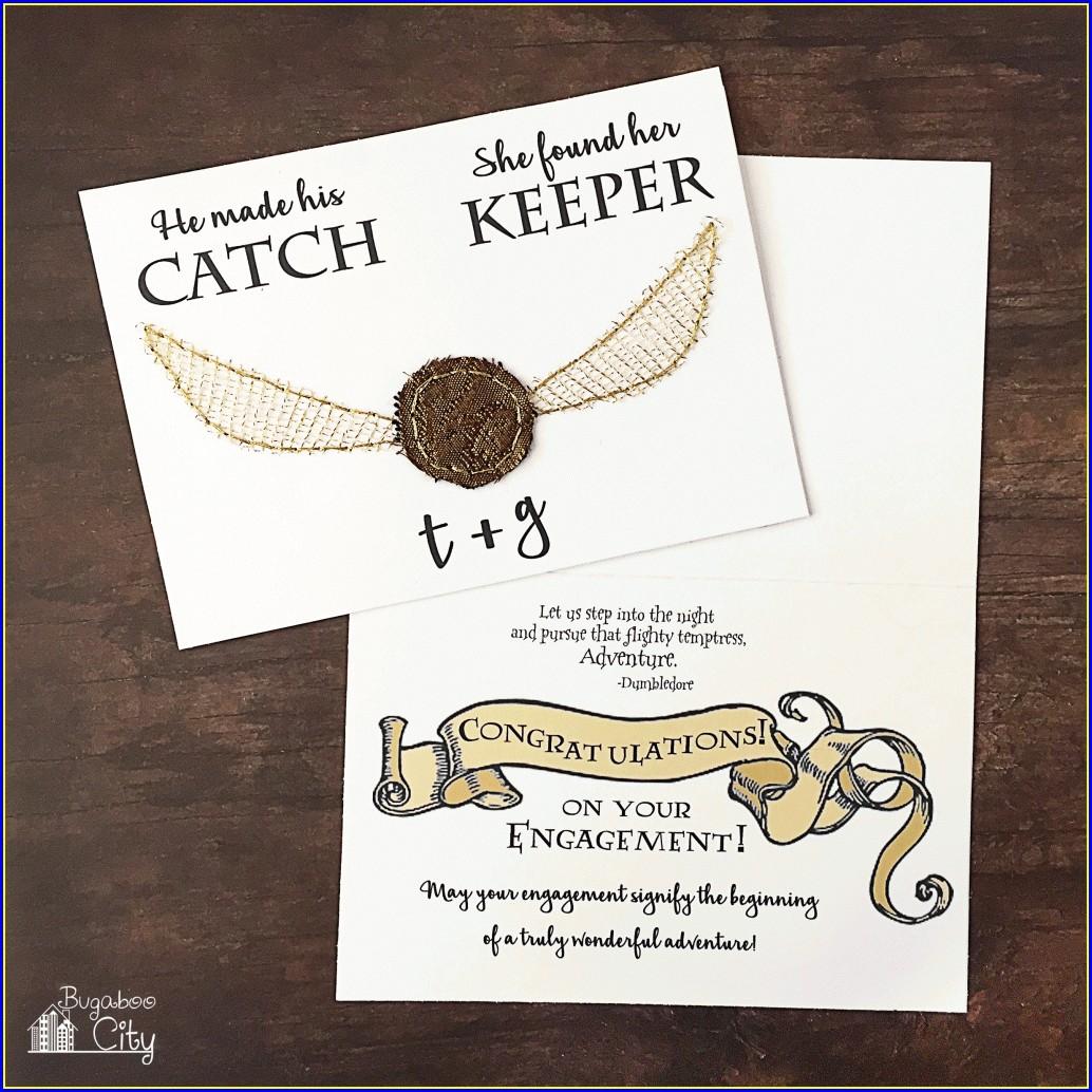 Printable Harry Potter Themed Wedding Invitations