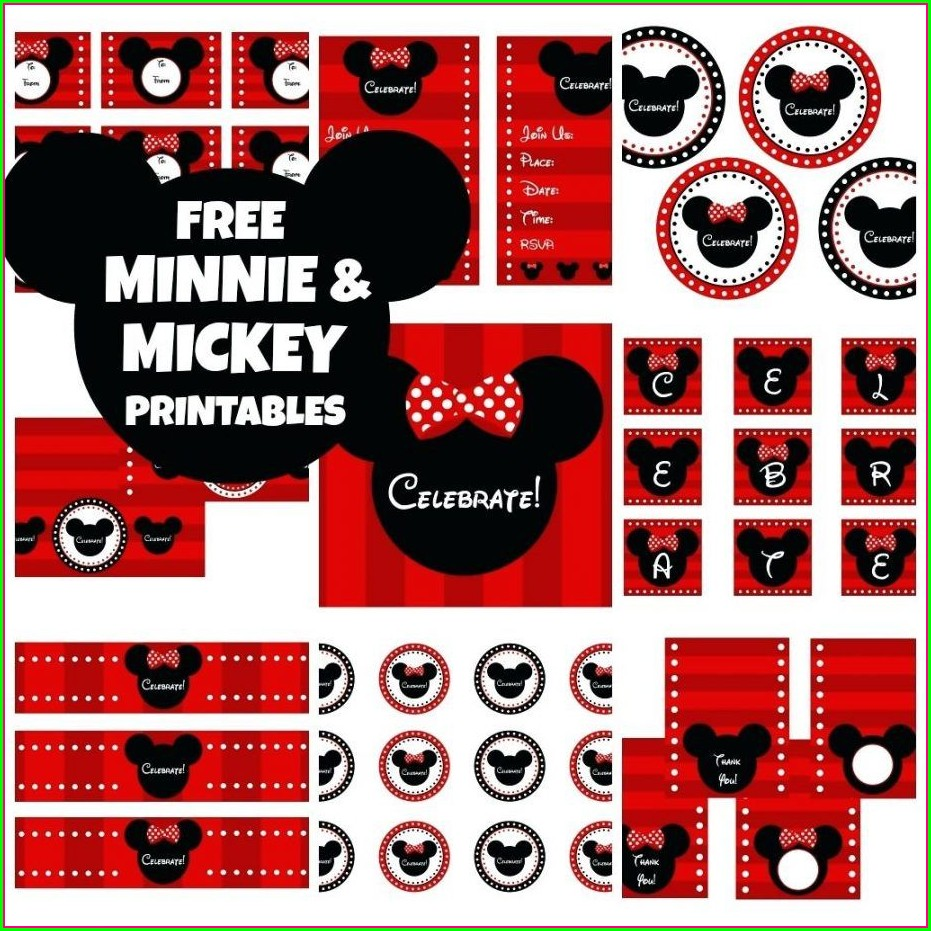 Printable Mickey And Minnie Mouse Invitations