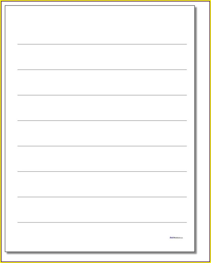 Printable Preschool Writing Paper Template