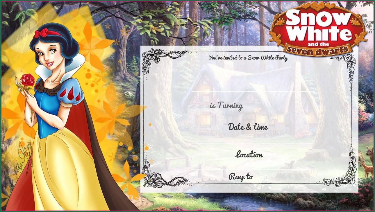Printable Snow White Birthday Invitation Template