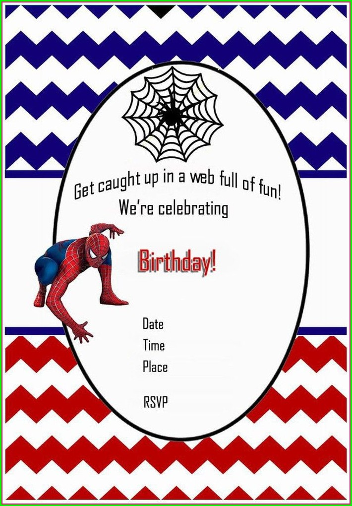 Printable Spiderman Birthday Invitations