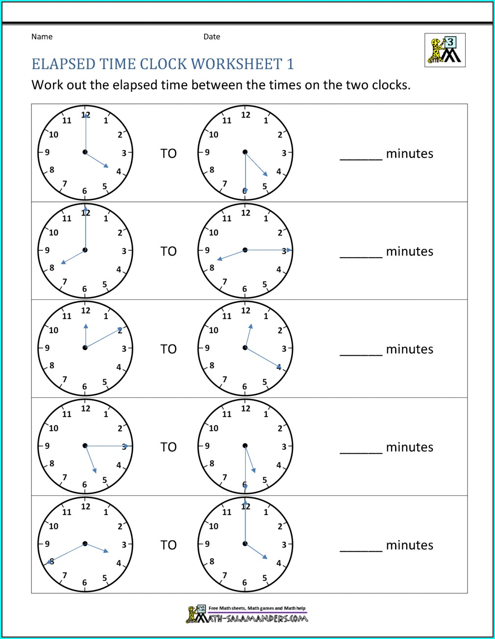 Printable Telling Time Worksheets Grade 4