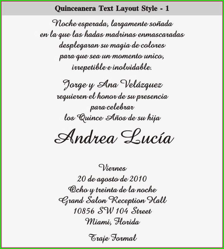 Quinceanera Invitations Ideas In Spanish