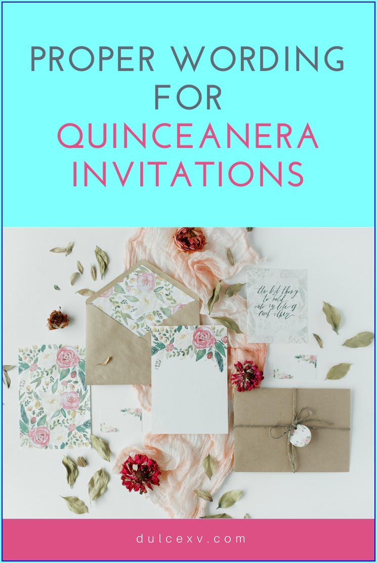 Quinceanera Invitations In English