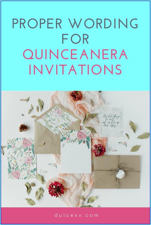 Quinceanera Invitations In English