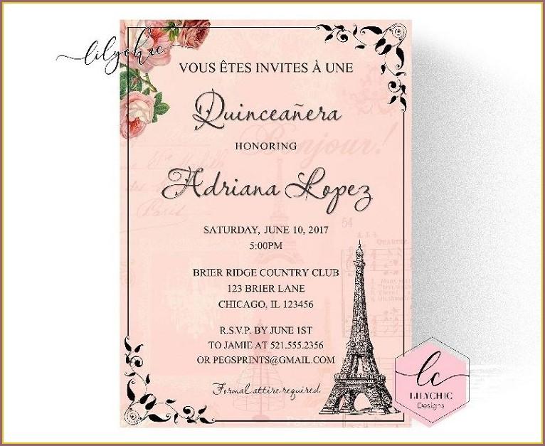 Quinceanera Invitations Samples In Spanish