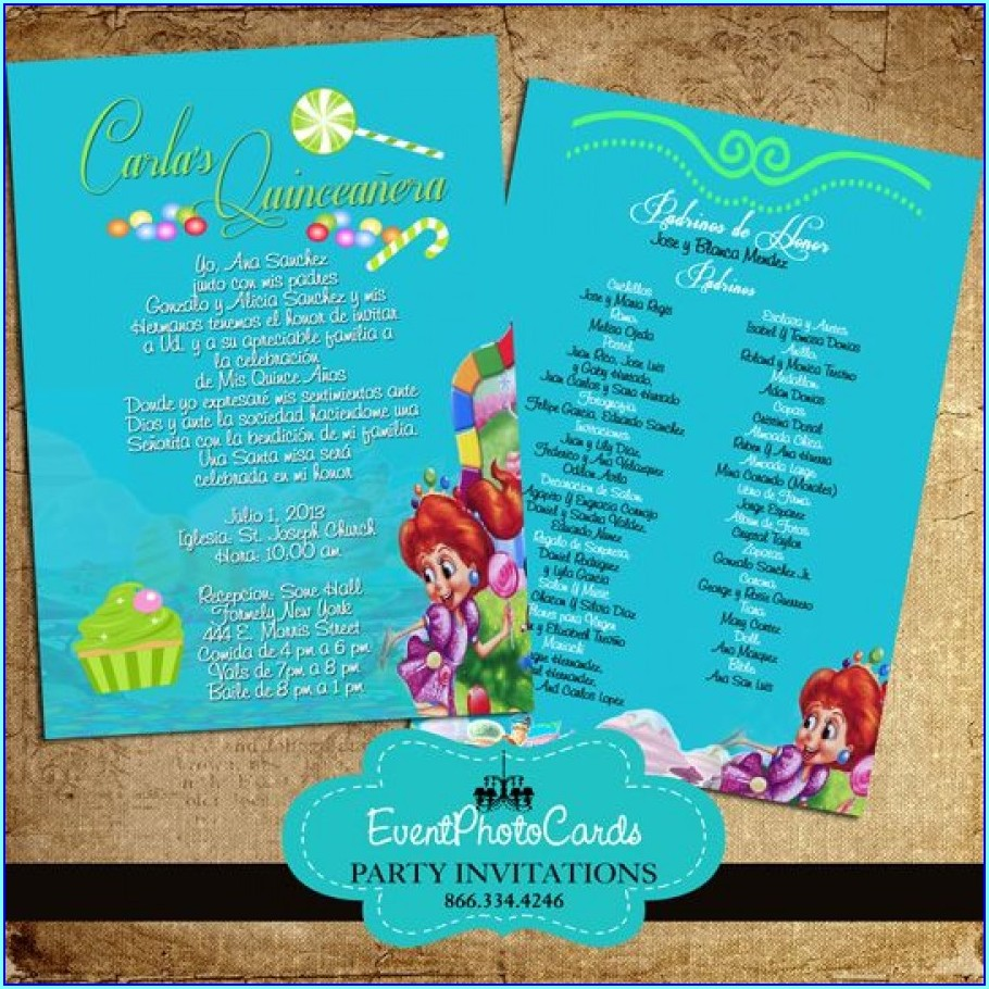 Quinceanera Invitations With Padrinos