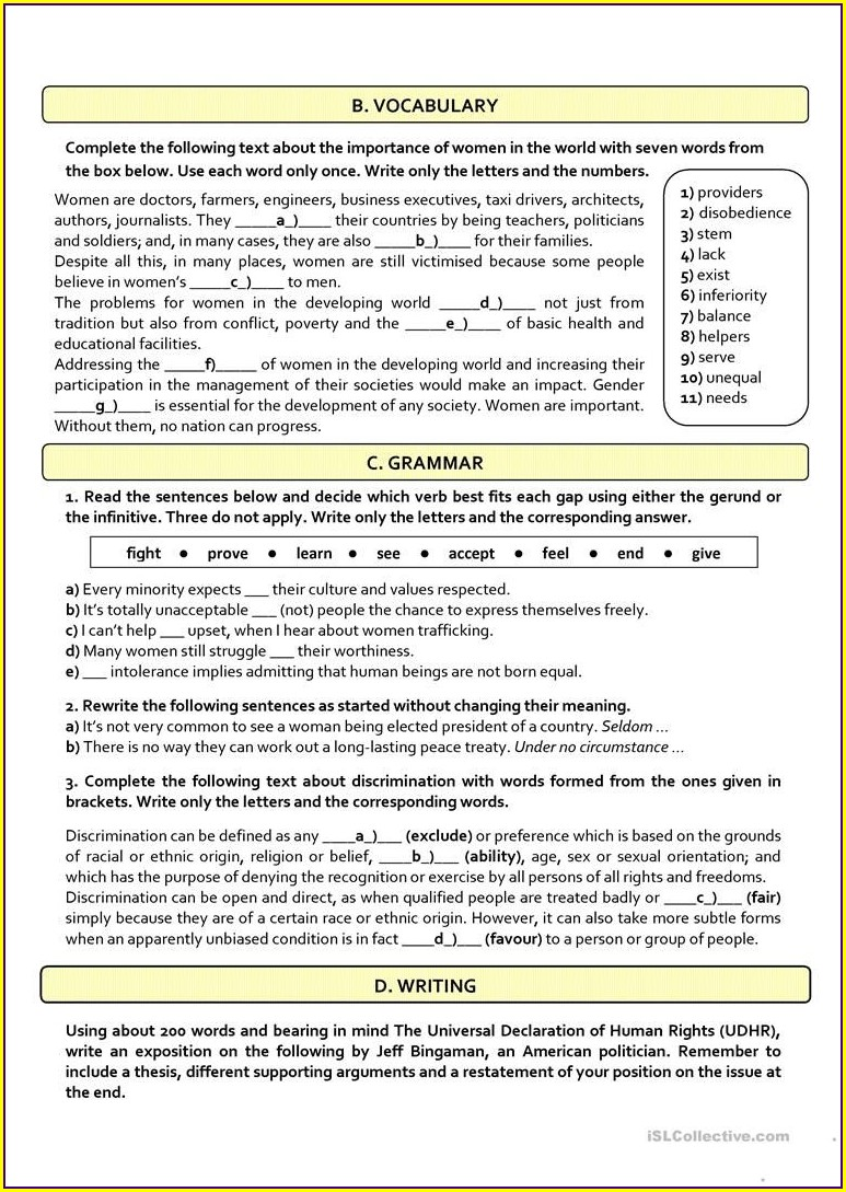 Reading Exercises English B2
