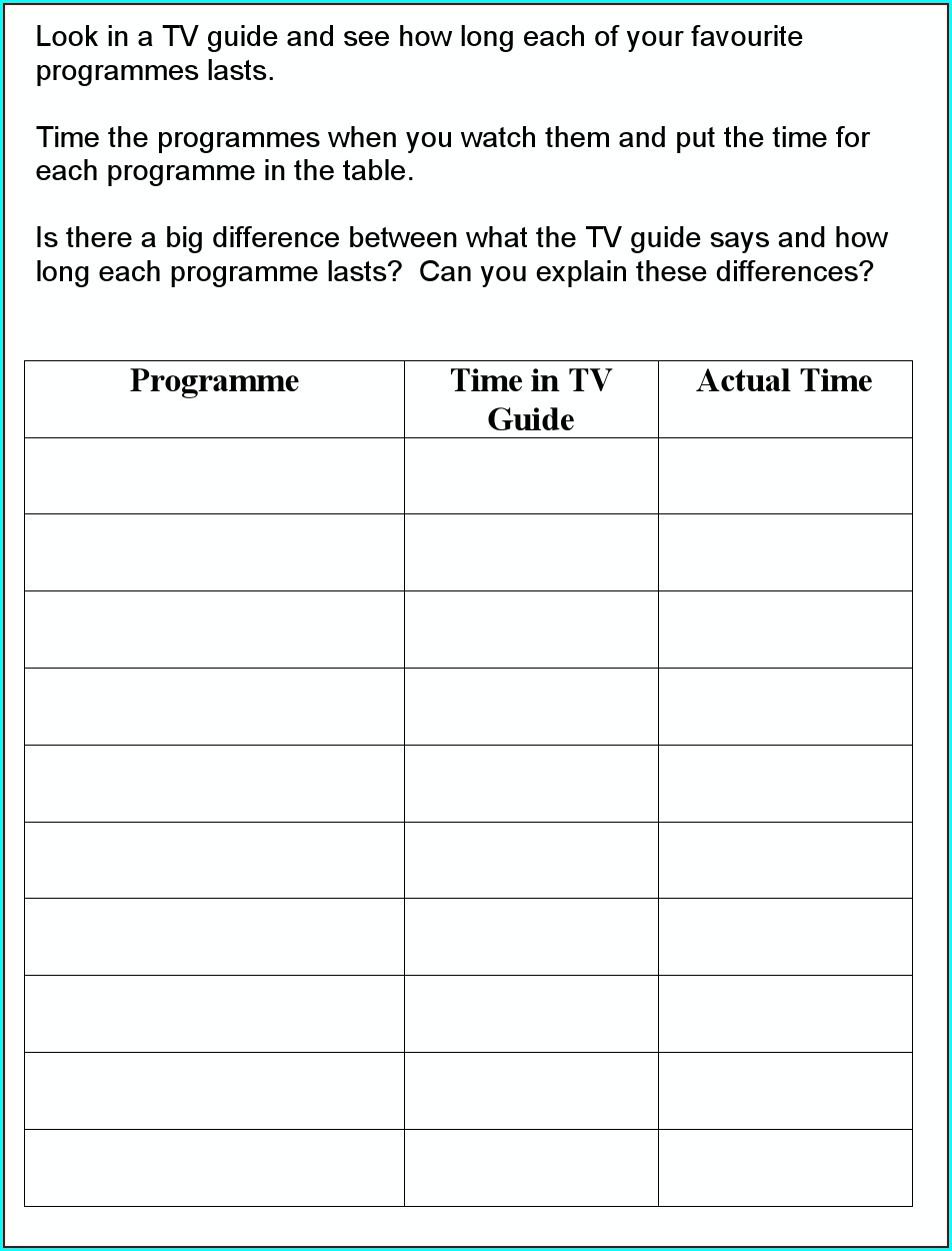 Reading Timetables Worksheet Year 5