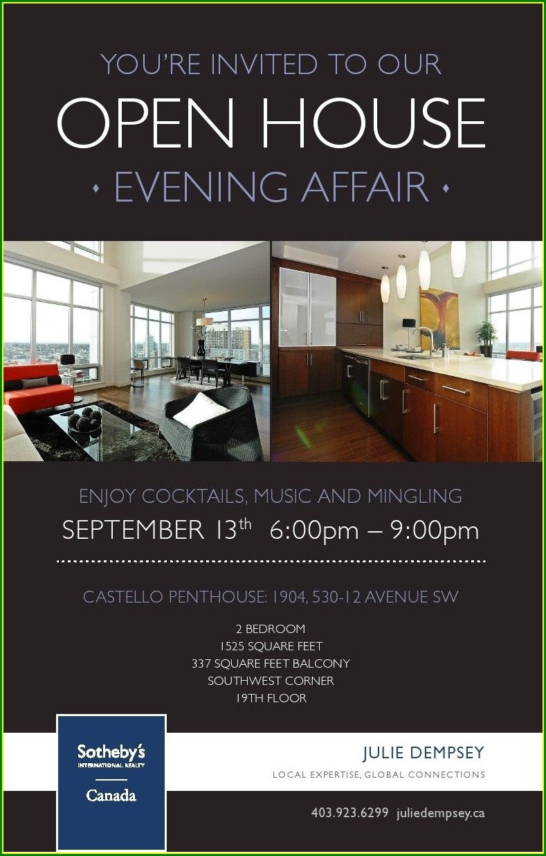 Realtor Open House Invitation Wording