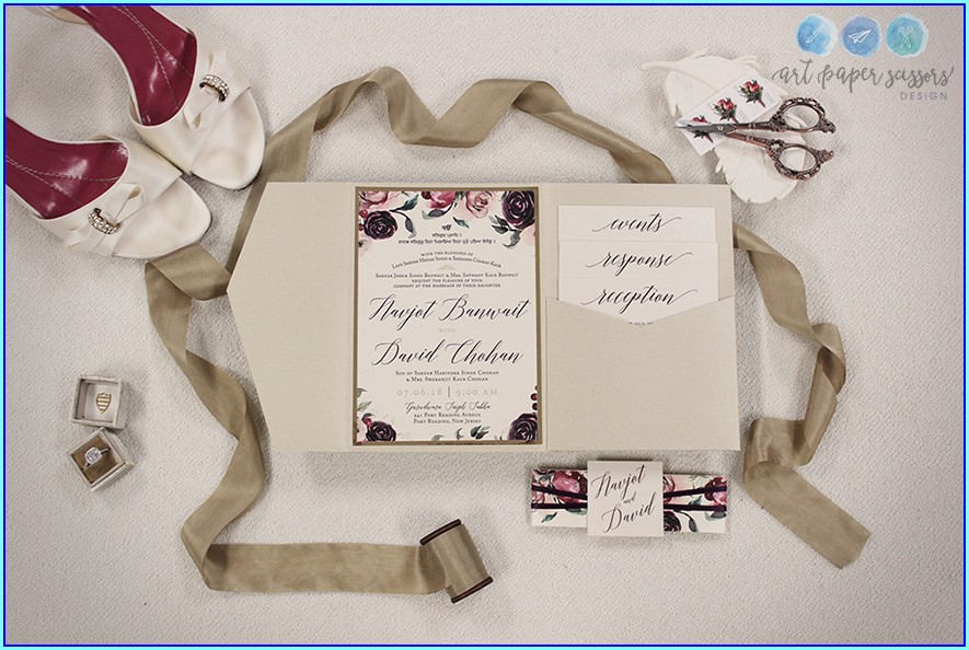 Red And Ivory Wedding Invitations