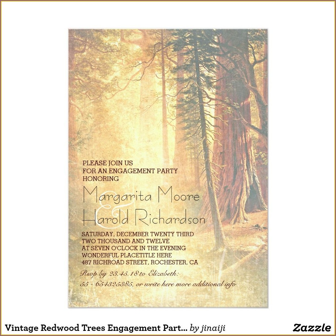 Redwood Tree Wedding Invitations