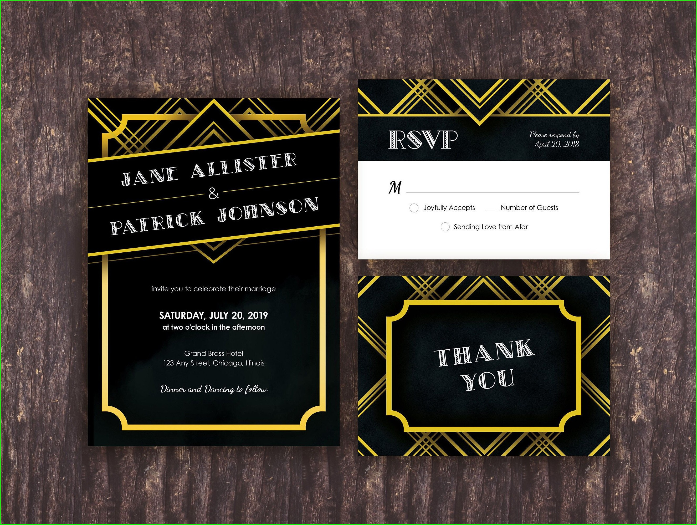 Roaring 20s Great Gatsby Invitation Template