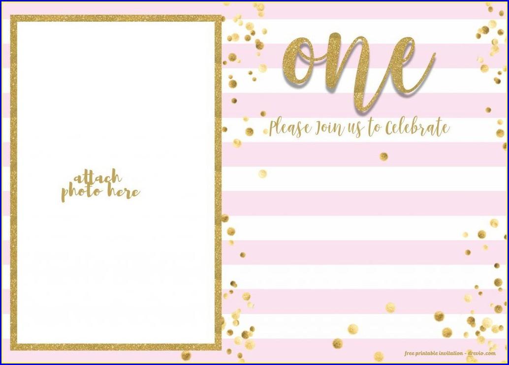 Rose Gold Birthday Invitations Online