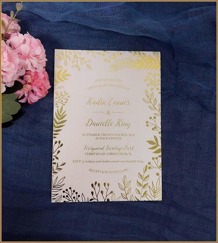 Rose Gold Elegant Wedding Invitations