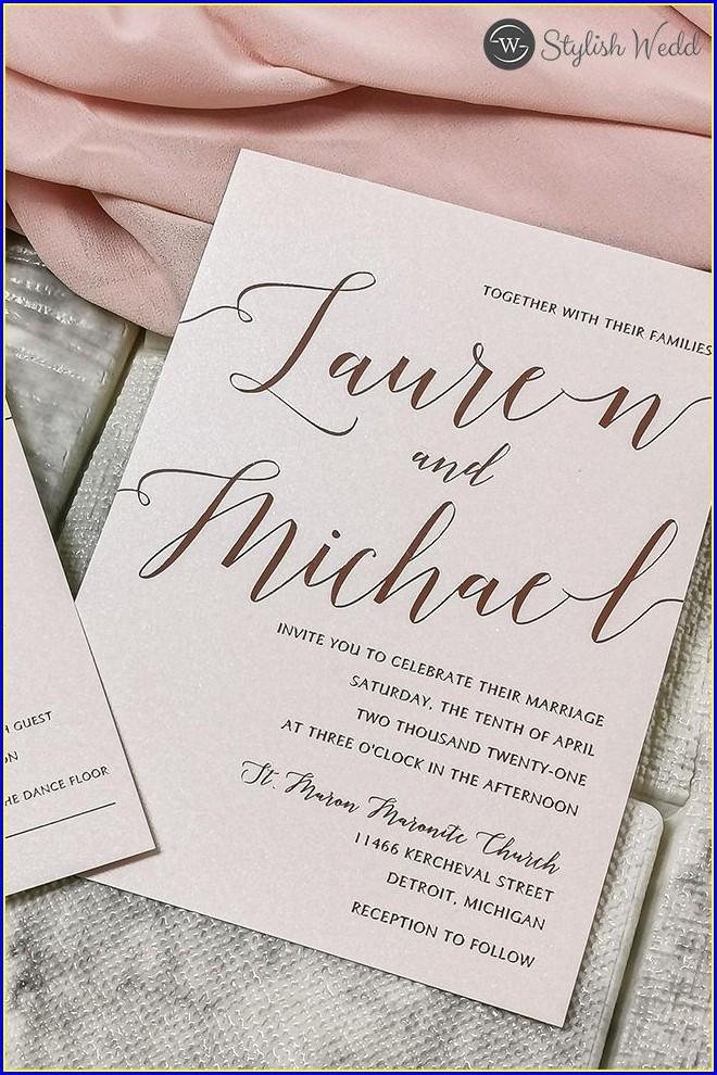 Rose Gold Foil Wedding Invitations Diy