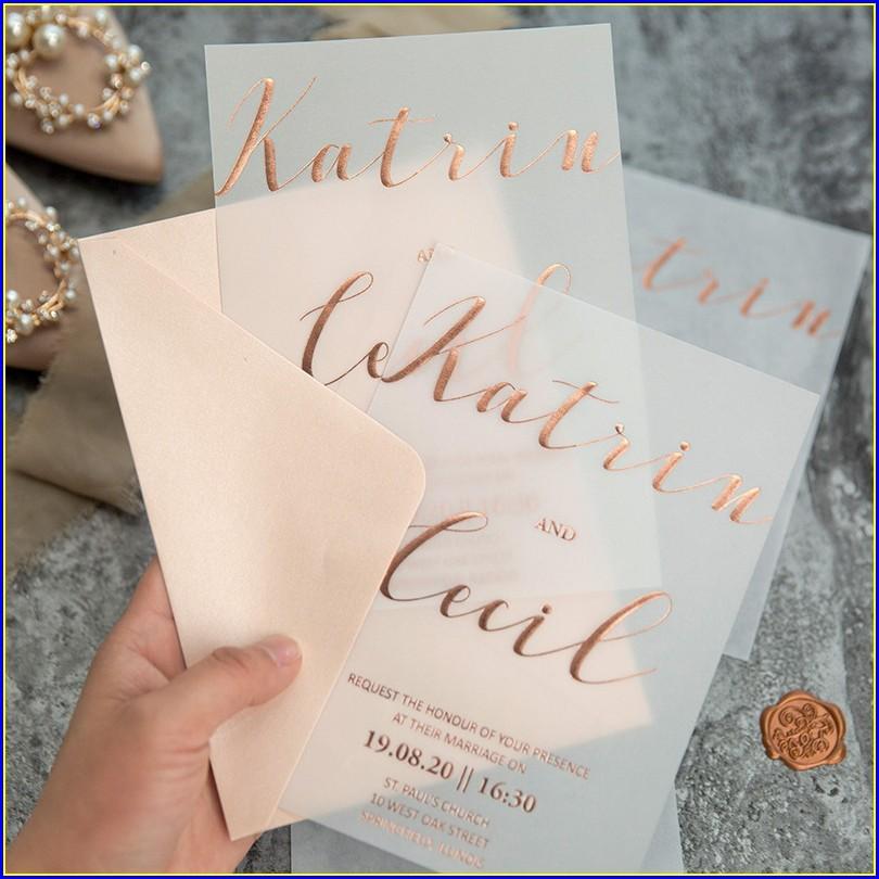 Rose Gold Foil Wedding Invitations Uk