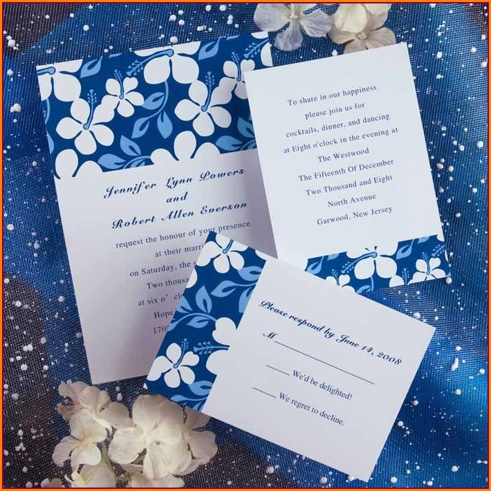 Royal Blue Wedding Invitation Background