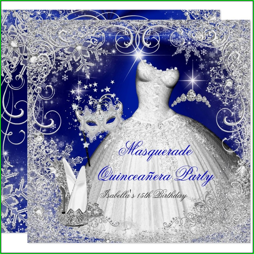 Royal Blue Wedding Invitations Background