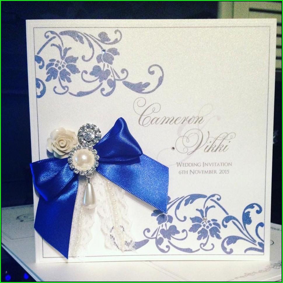 Royal Blue Wedding Invitations Designs