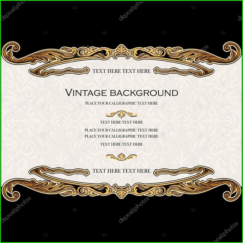 Royal Floral Invitation Card Background