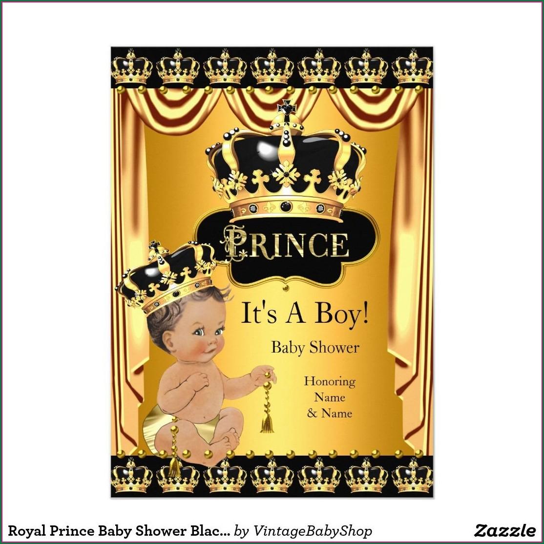 Royal Prince Invitation Background
