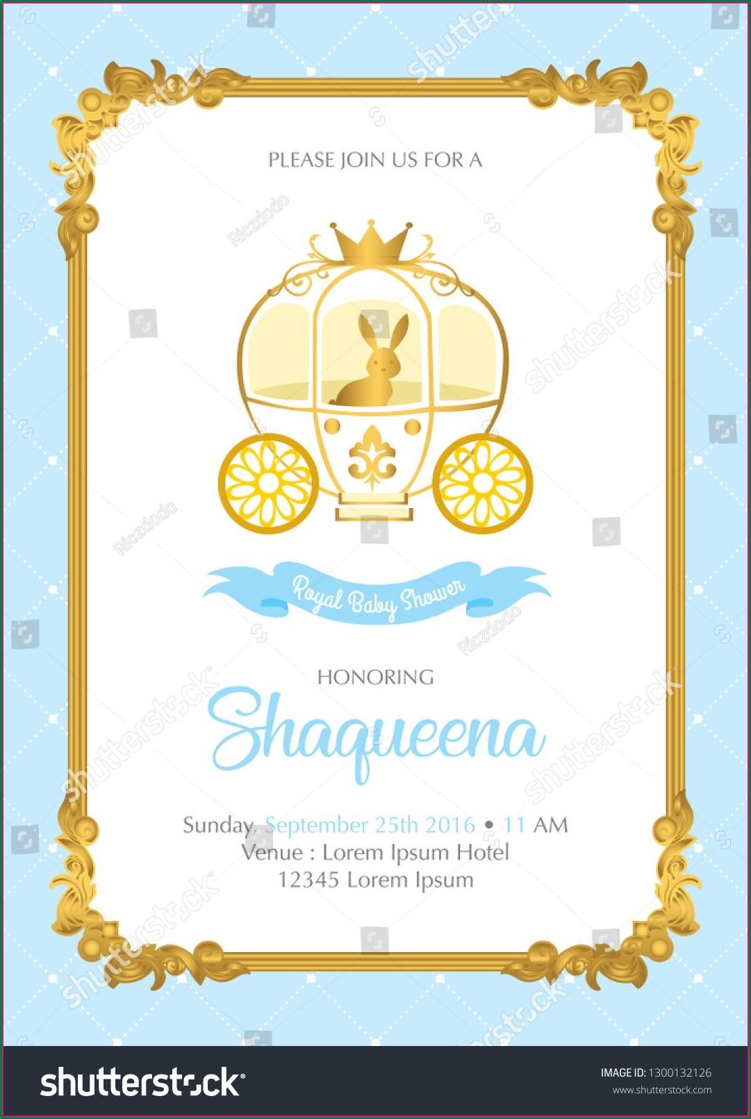 Royal Prince Invitation Card