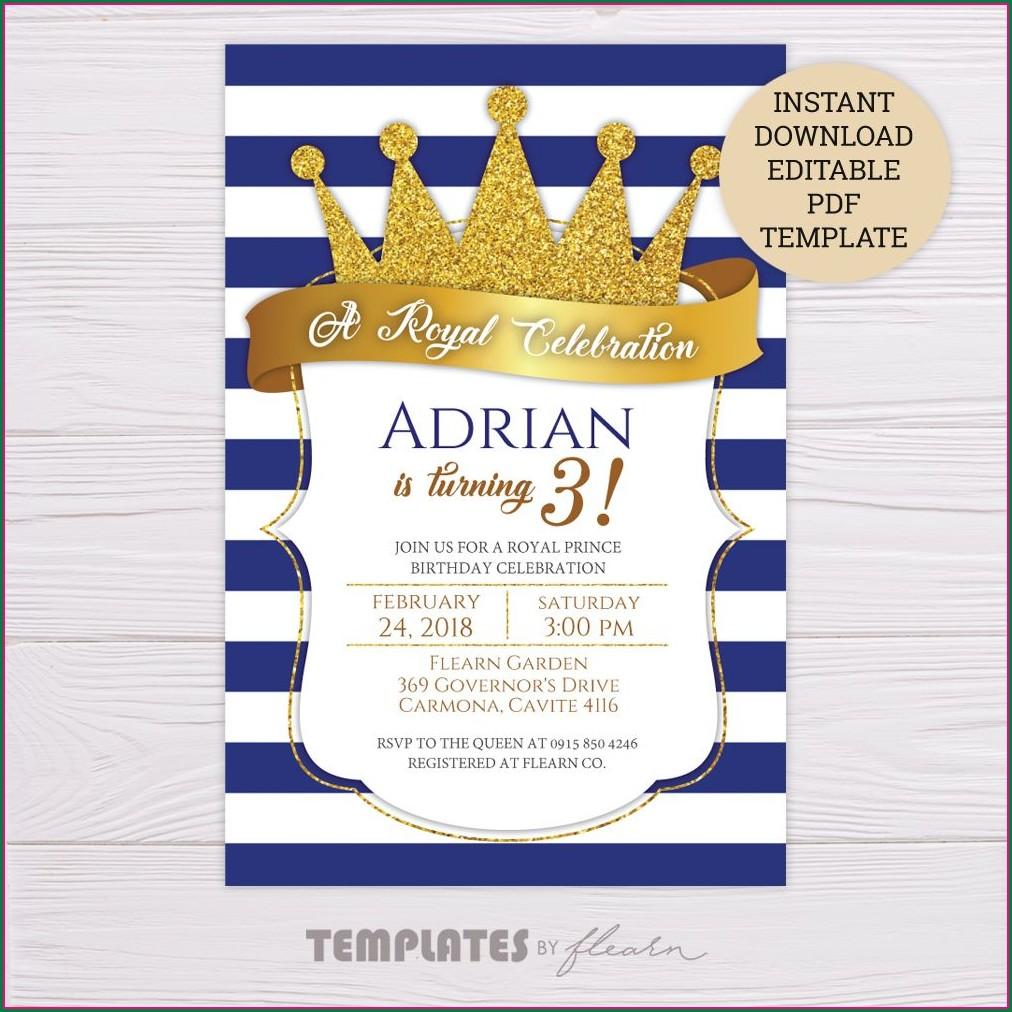 Royal Prince Invitation Template