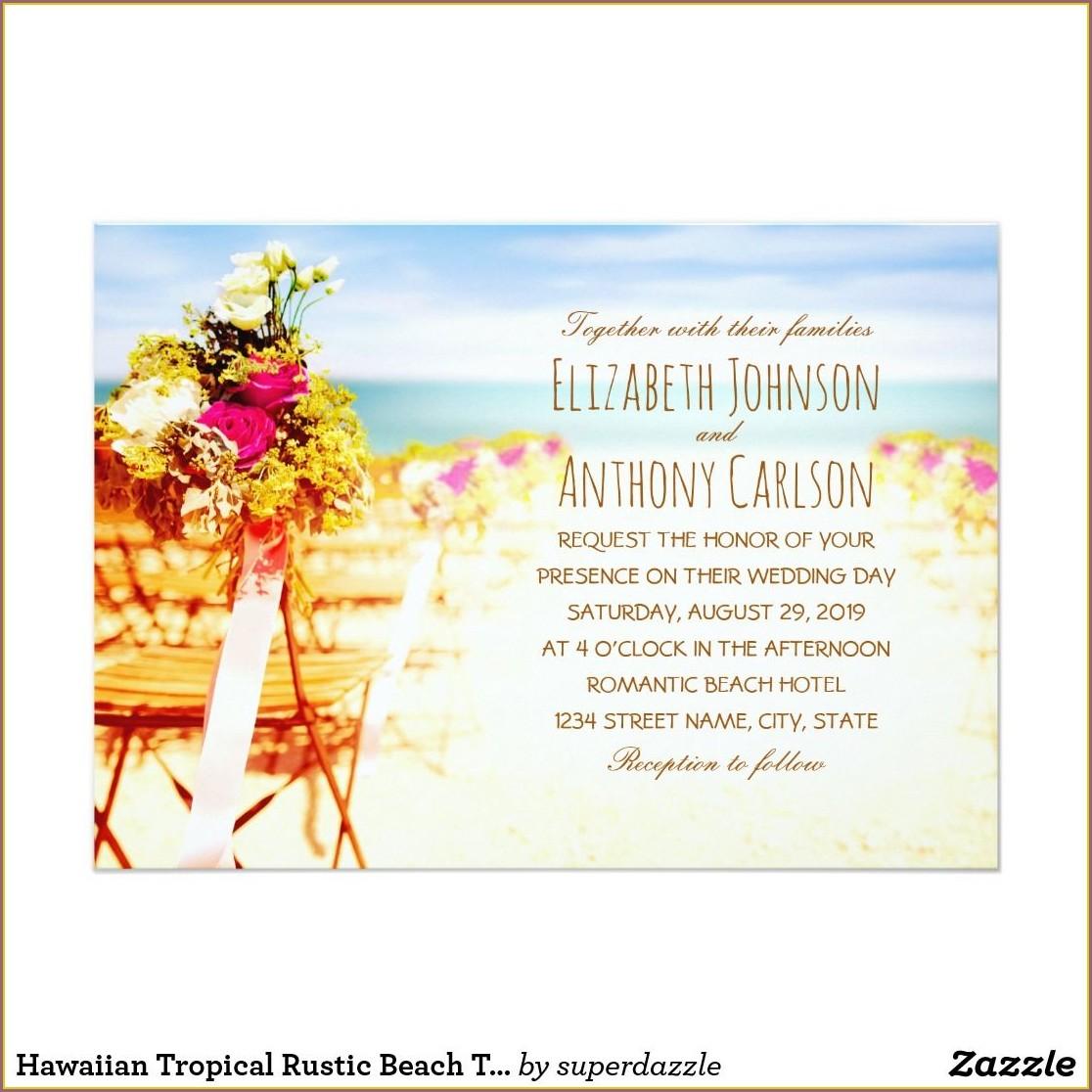 Rustic Beach Themed Wedding Invitations