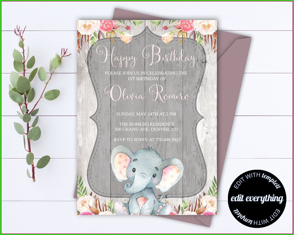 Rustic Birthday Invitations Template