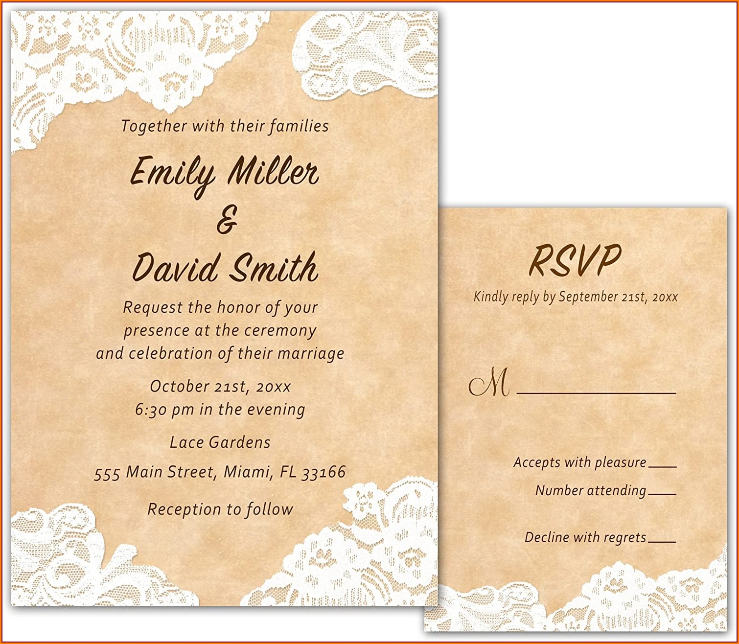 Rustic Country Style Wedding Invitations