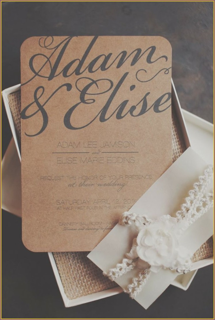Rustic Pinterest Wedding Invitations
