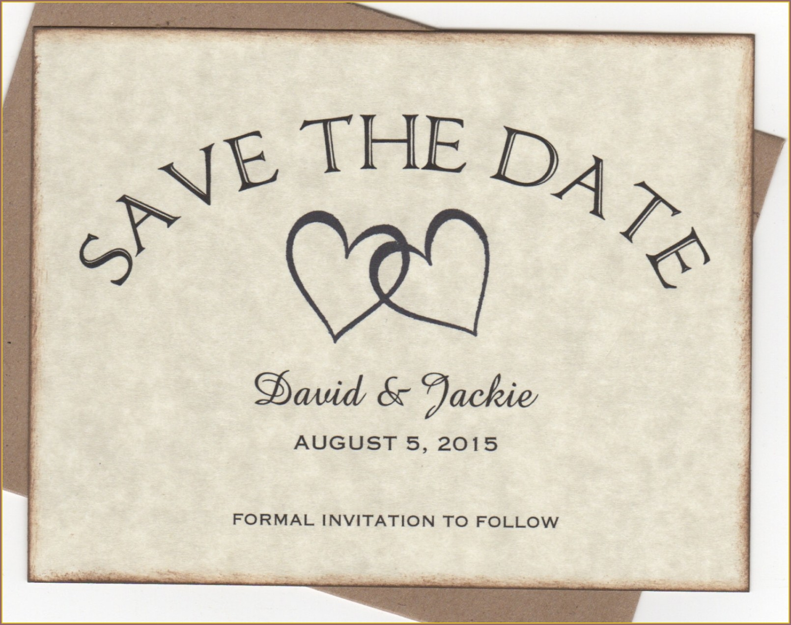 Rustic Save The Date Wedding Invitations
