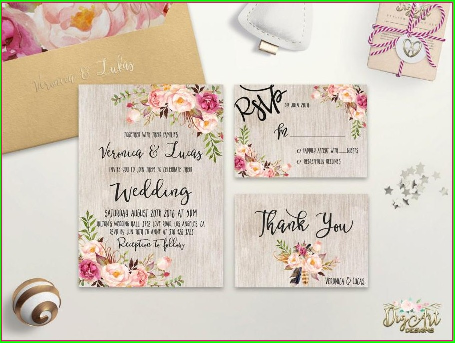 Rustic Spring Wedding Invitations