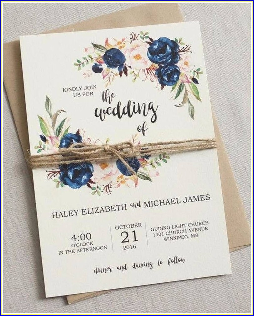 Rustic Wedding Invitations Under 1