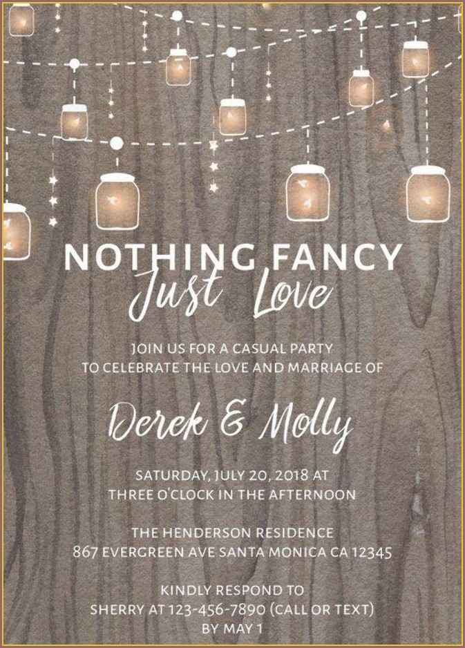 Rustic Wedding Reception Invitations
