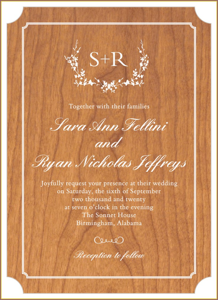 Rustic Wood Wedding Invitations