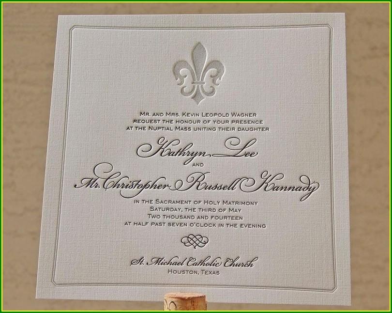 Sacrament Of Holy Matrimony Wedding Invitation