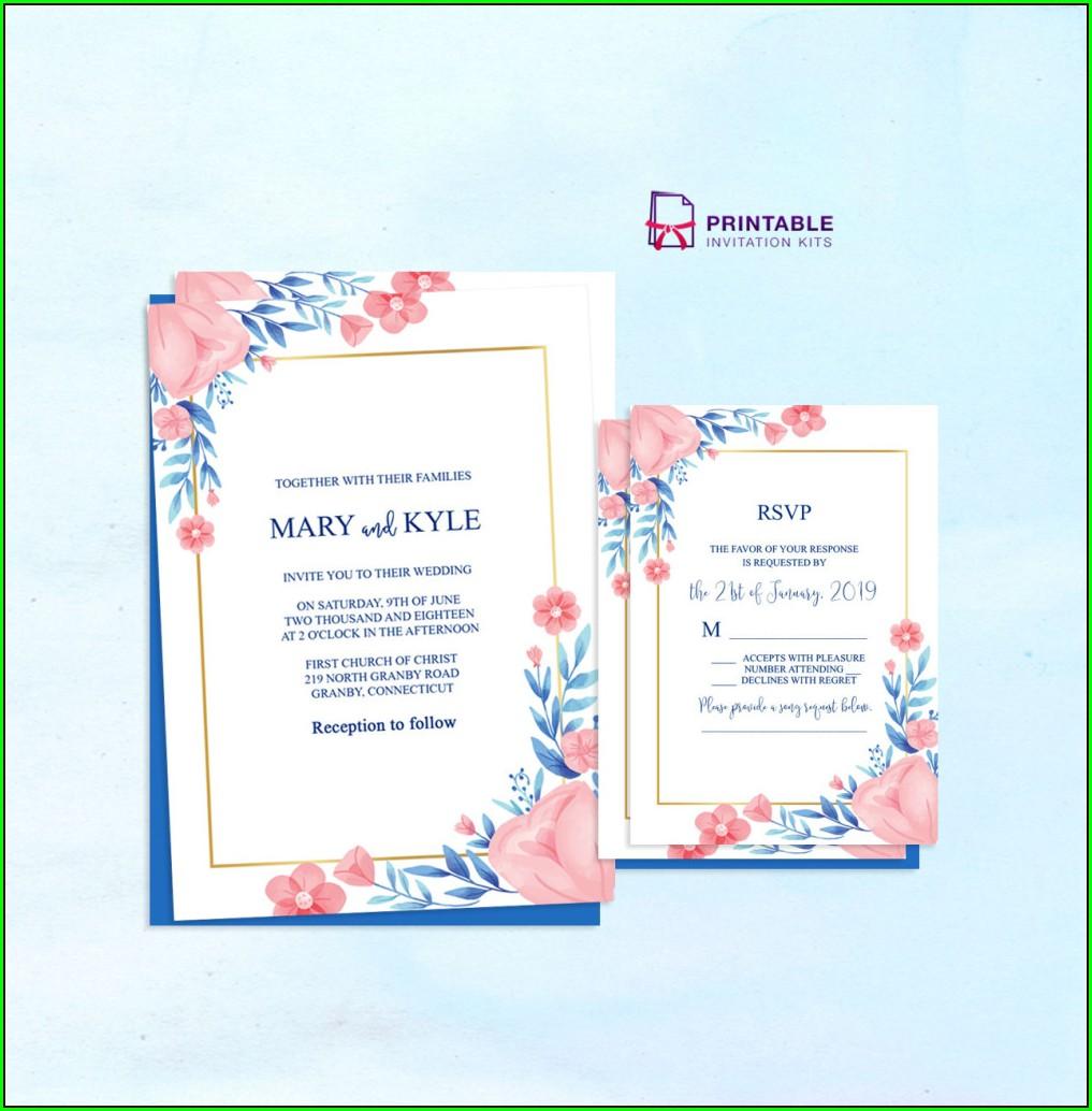 Sample Editable Wedding Invitation Templates Free Download