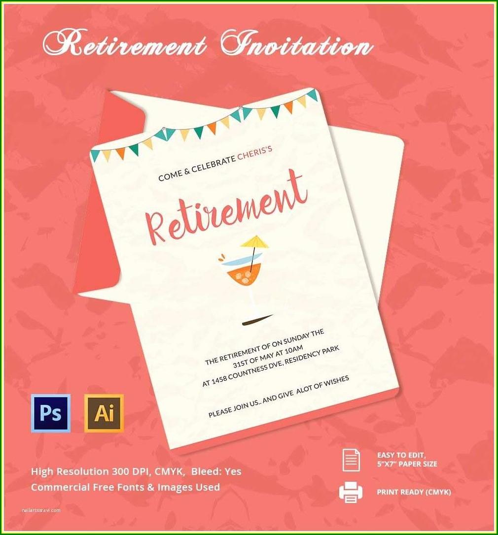 Sample Retirement Invitation Templates