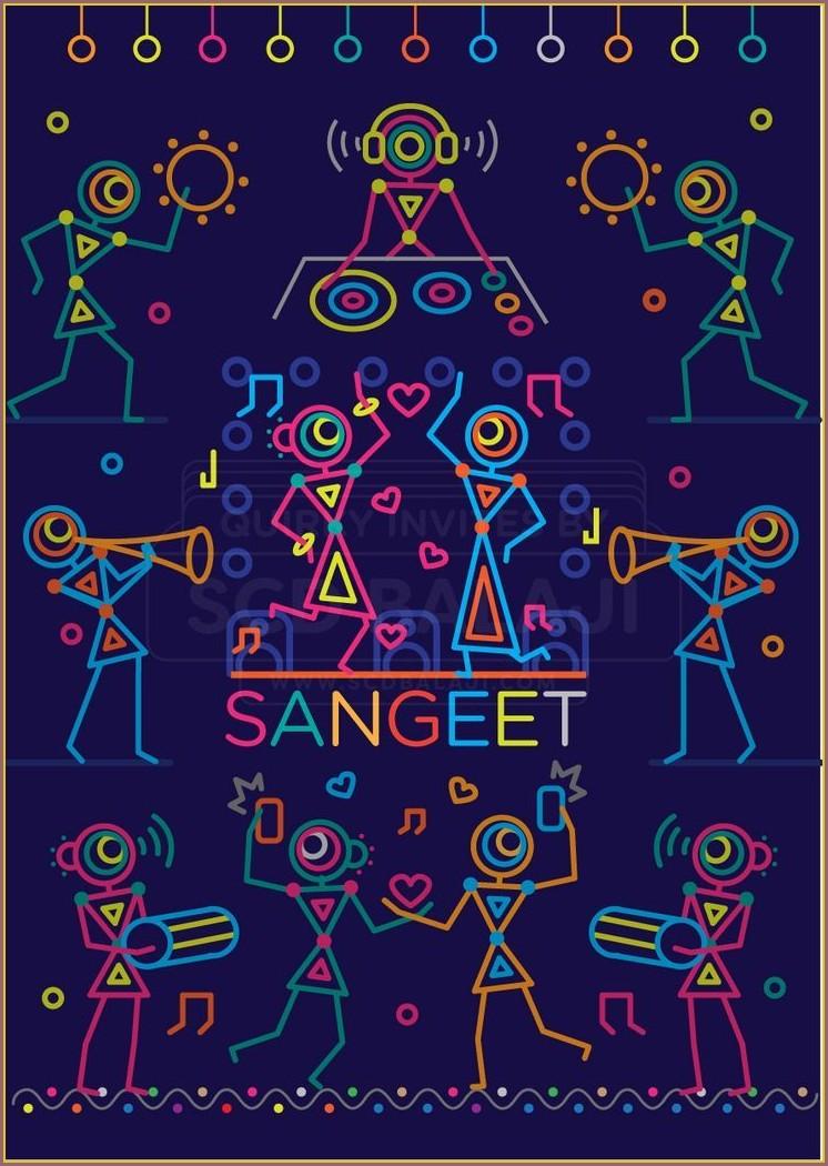 Sangeet Invitation Card Design