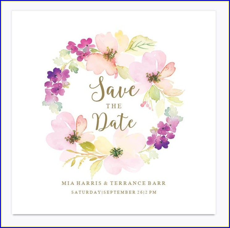 Save The Date Invitations Free Templates