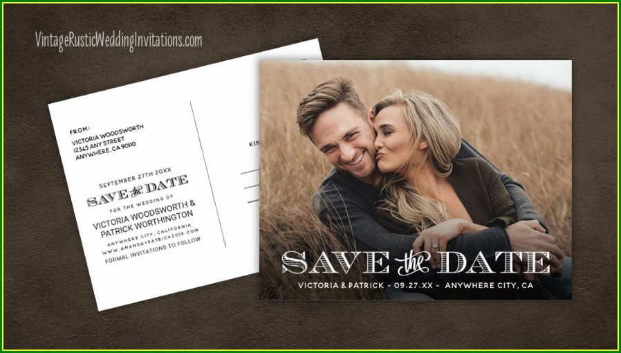 Save The Date Rustic Invitations