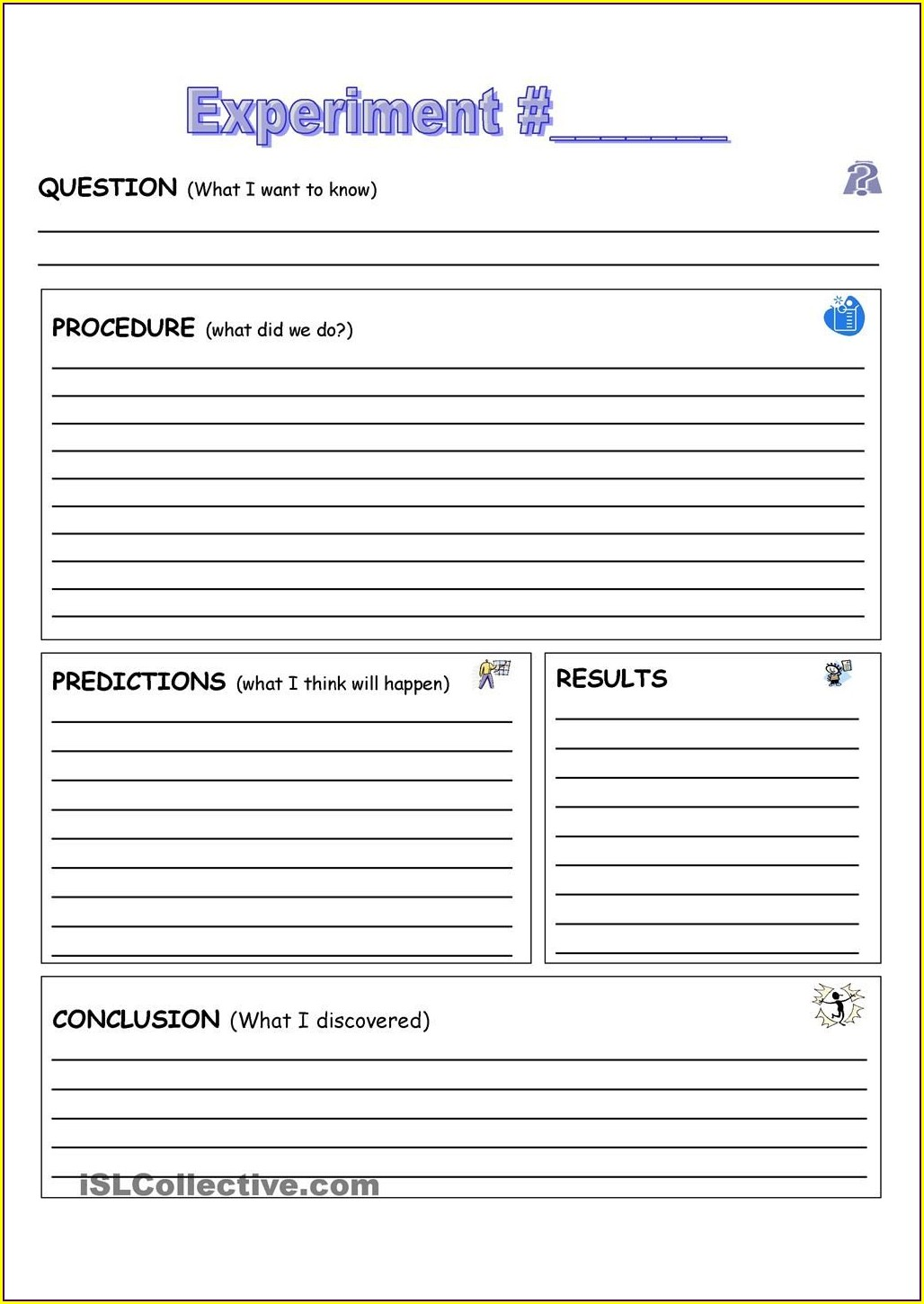 Science Experiment Worksheet Template Elementary