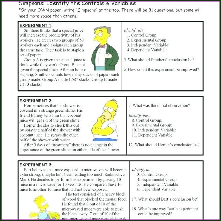 Scientific Method Worksheet Grade 7