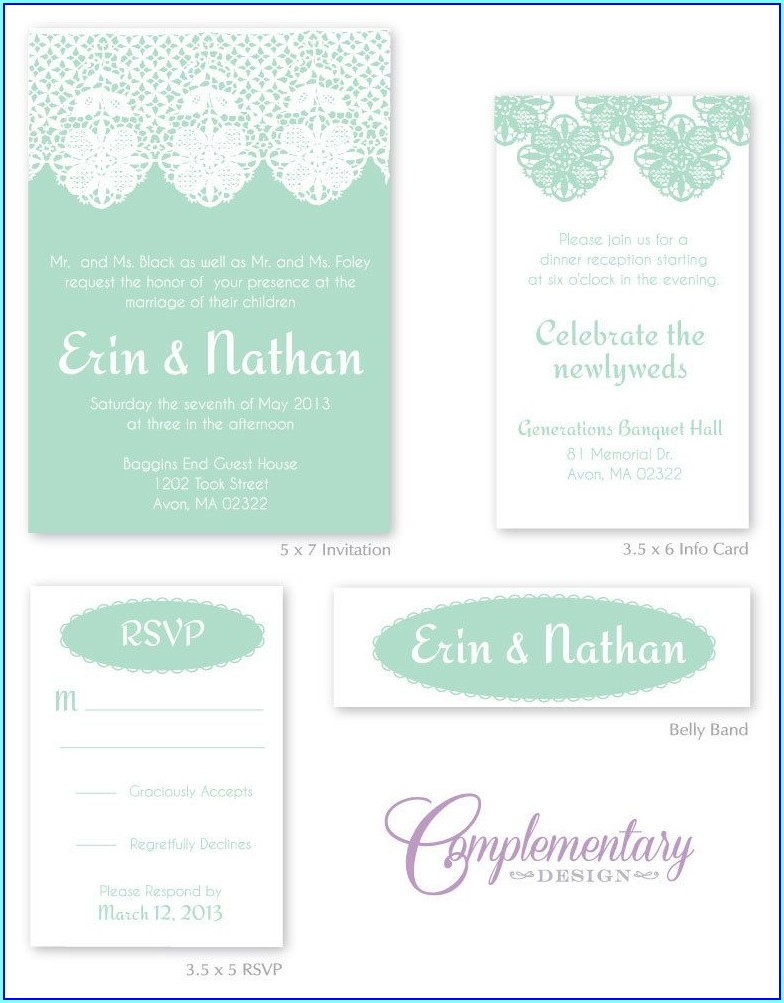 Seafoam Green Wedding Invitations
