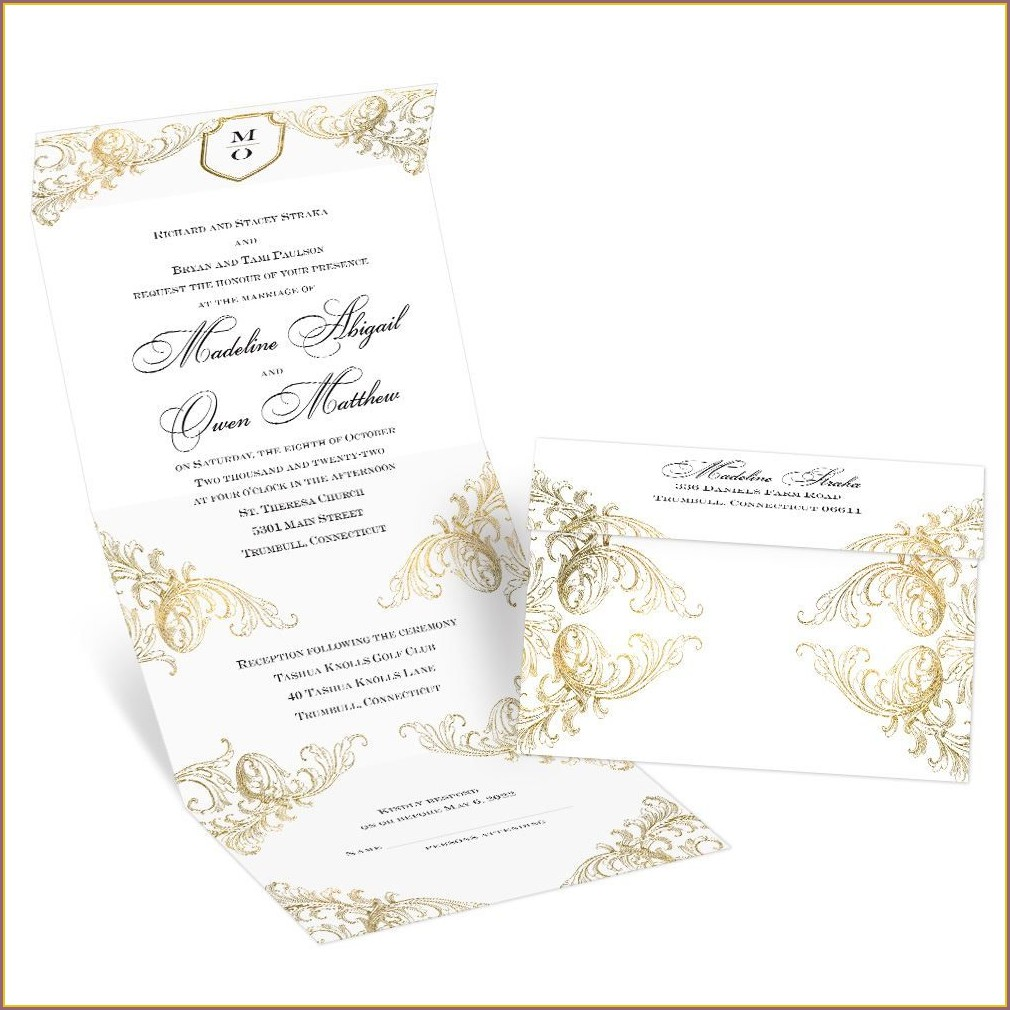 Seal And Send Wedding Invitations Cheap