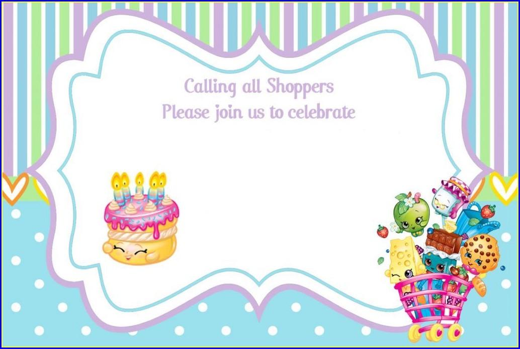 Shopkins Birthday Invitations Online Free