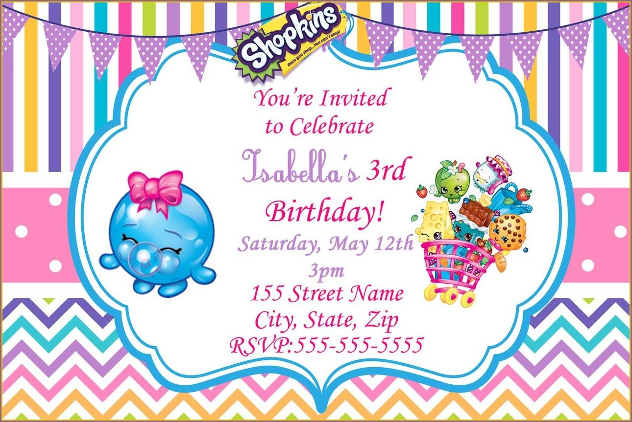 Shopkins Digital Invitations Free